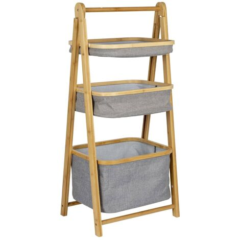 Bo-Camp Folding Cabinet with Baskets Bayswater Bamboo