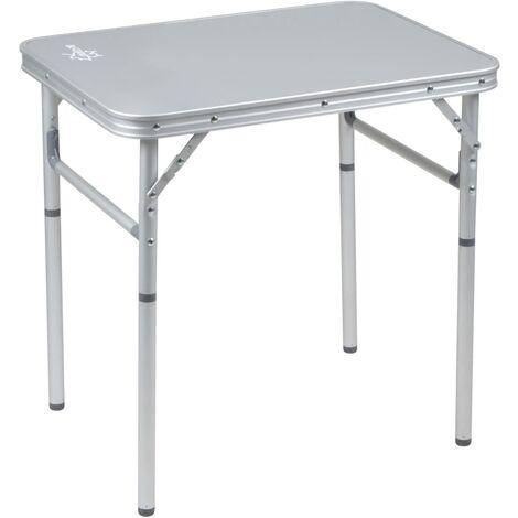 Bo-Camp Folding Camping Table Premium 60x45 cm Aluminium - Grey