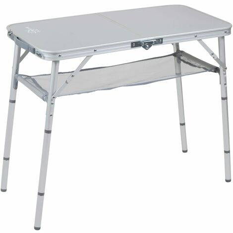 Bo-Camp Folding Camping Table Premium 80x40 cm Aluminium - Grey