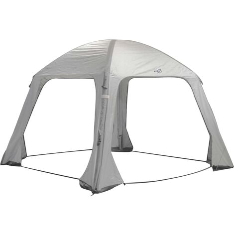 Bo-Camp Inflatable Party Tent Air Gazebo 365x365 cm Grey - Grey