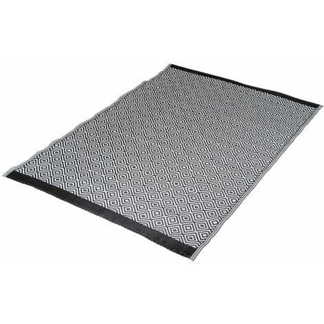 Bo-Camp Outdoor Rug Chill mat Beach 1.8x1.2 m Black and White