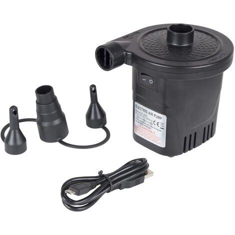 Bo-Camp Pompe électrique de lit à air avec USB 250 L/min 12/230 V