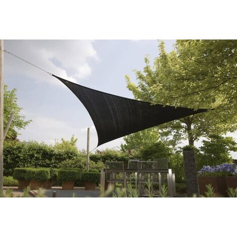 Bo-Camp Shade Cloth Triangle Anthracite 3.6x3.6x3.6 m 4471441