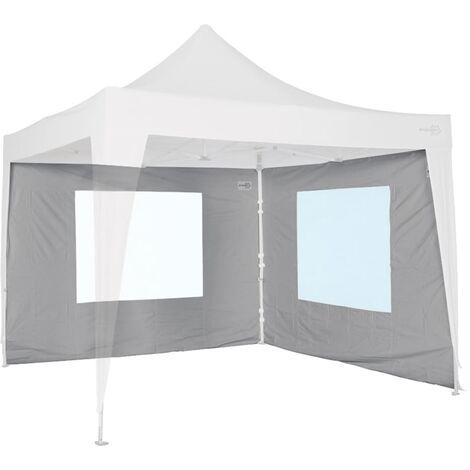Bo-Camp Toldo lateral con ventana para marquesina 3x2,4 gris 4472113