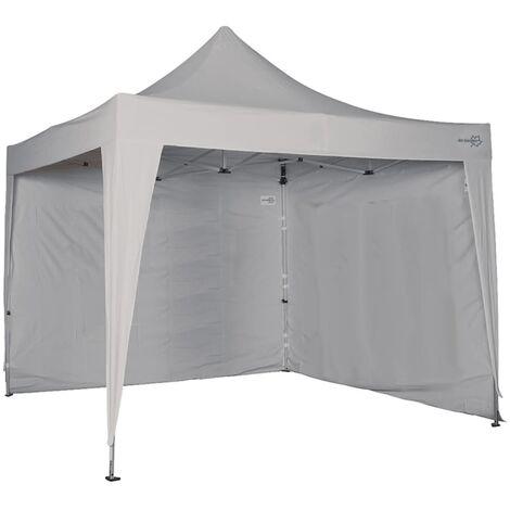 Bo-Camp Toldo lateral sin ventana para marquesina 3x2,4 gris 4472114