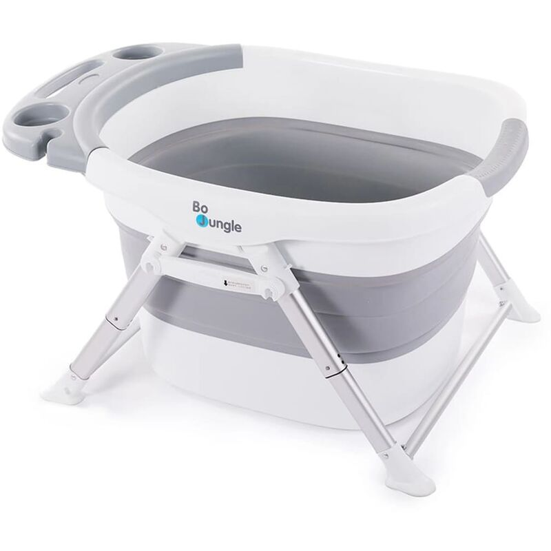 Image of B-Foldable Baby Shower Bath Grey and White - Grey - Bo Jungle