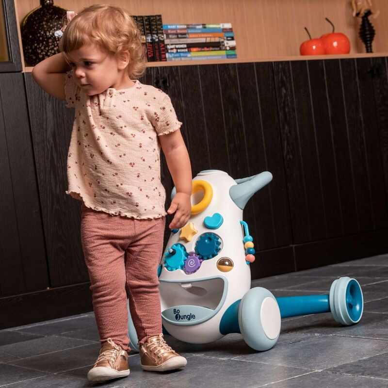 Image of B-Walking Baby Walker Aid Jumpy Blue - Blue - Bo Jungle