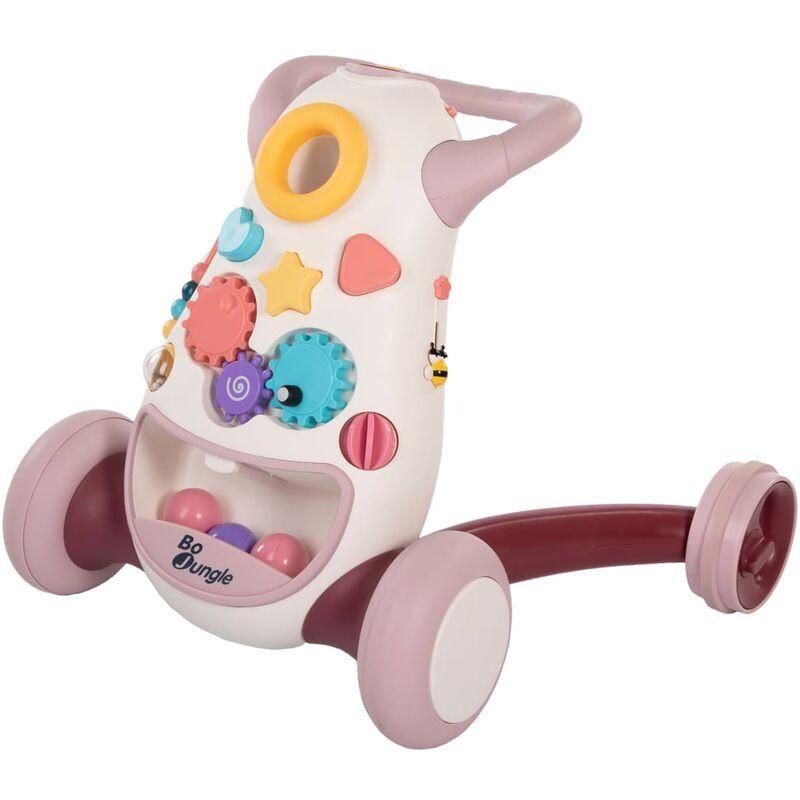 Image of B-Walking Baby Walker Aid Jumpy Pink - Pink - Bo Jungle