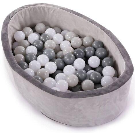 Bo Jungle Piscina de bolas con 120 bolas B-Ball gris - Gris