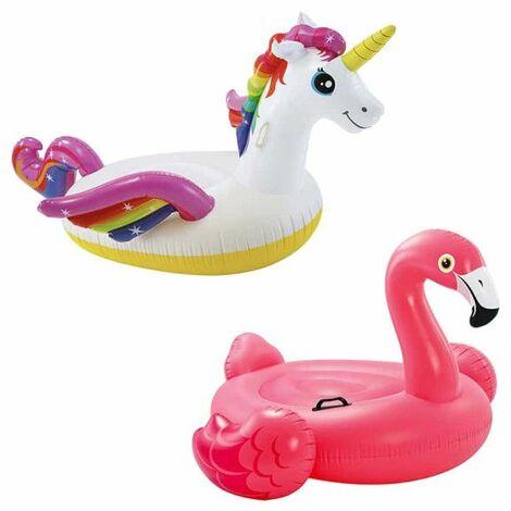 Boa gonfiabile Flamingos Pack 142x137x97 cm - Boa gonfiabile Unicorno 201x140x97 cm