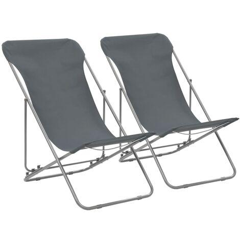 Boan Reclining Beach Chair by Dakota Fields - Grey