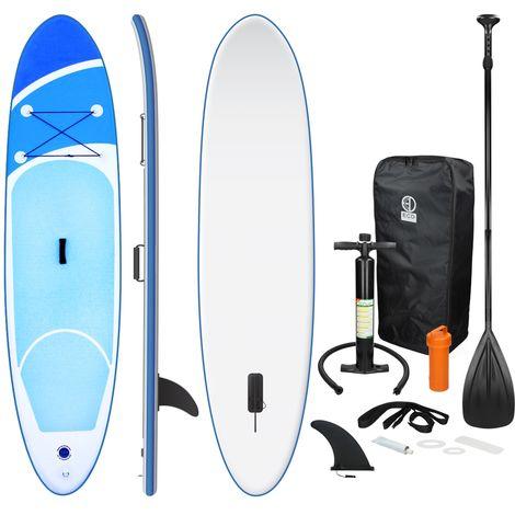 Board stand up 308cm planche de surf bleu gonflable avec palette pompe à air sac