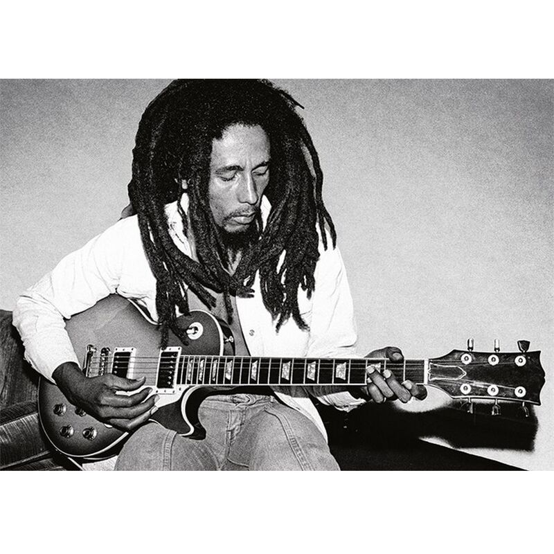 Image of Redemption Song Postcard (A6) (Black/White) - Bob Marley