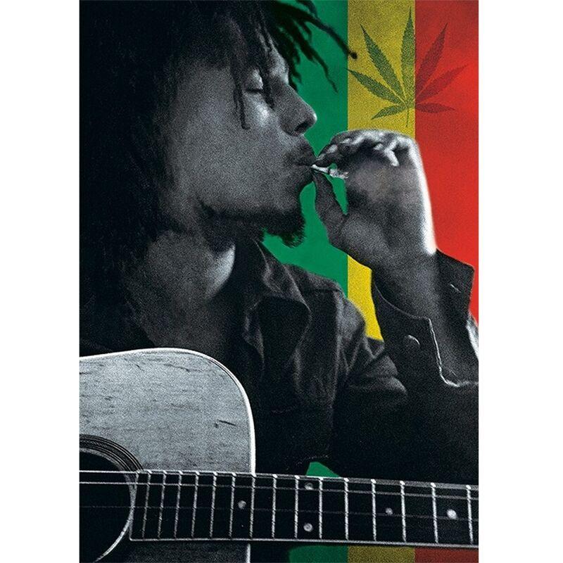 Image of Smoke Postcard (A6) (Multicoloured) - Bob Marley