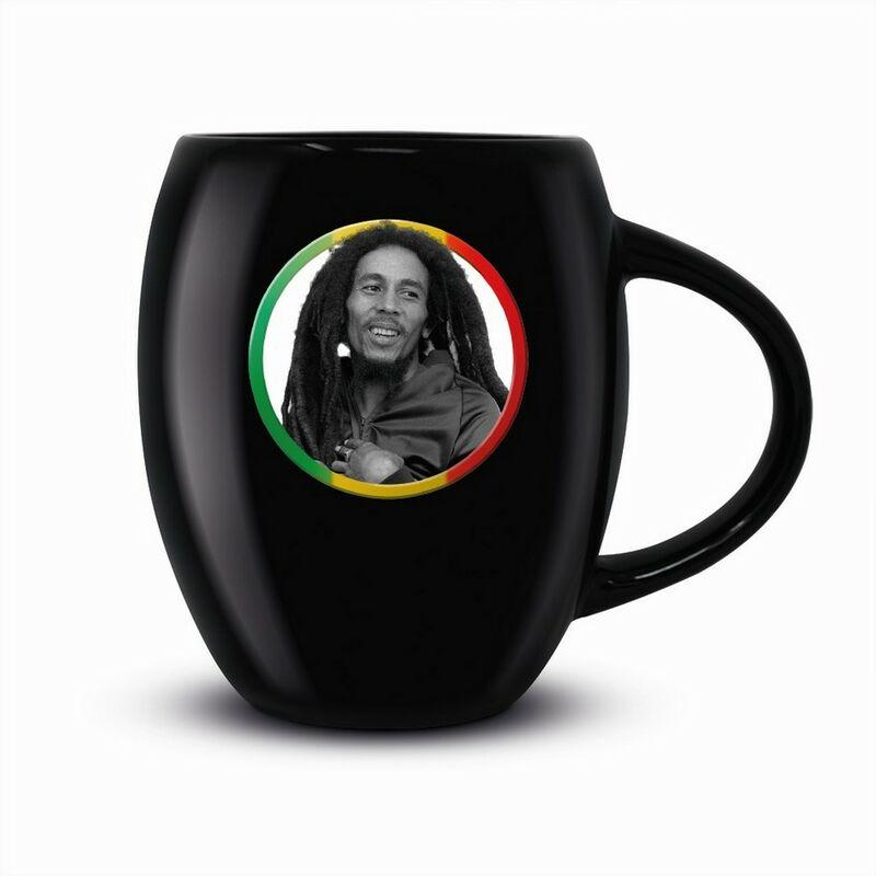 Image of Tricolour Circle Mug (One Size) (Black) - Bob Marley