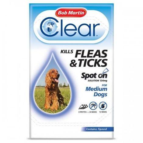 Bob Martin Clear Flea And Tick Spot On Liquid Drops For Medium Dogs