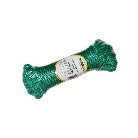 Bobina 10 mt. cuerda plastico 4mm. verde