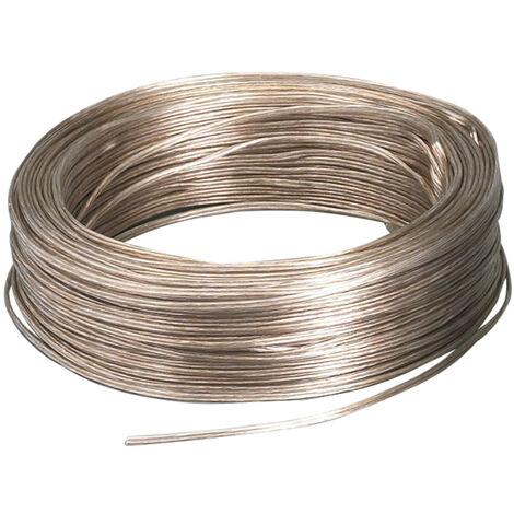 Bobina 100m. cable paralelo audio transparente 2x0,75mm2 (F-BRIGHT 0900008-T)