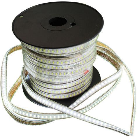 Bobina 10m. Tira Led blanco frío 10W/m. 220VAC IP65 (Electro DH 81.030/DIA)
