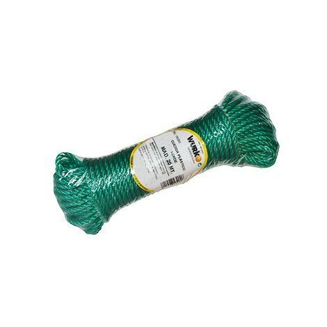 Bobina 20 mt. cuerda plastico 4mm. verde
