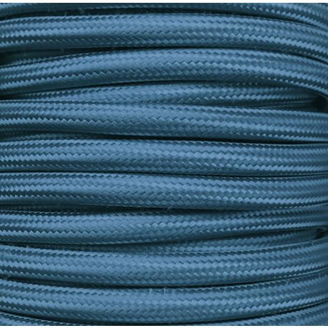 Bobina 25 m. cable textil decorativo azul marino liso mate (CIR62CM30)