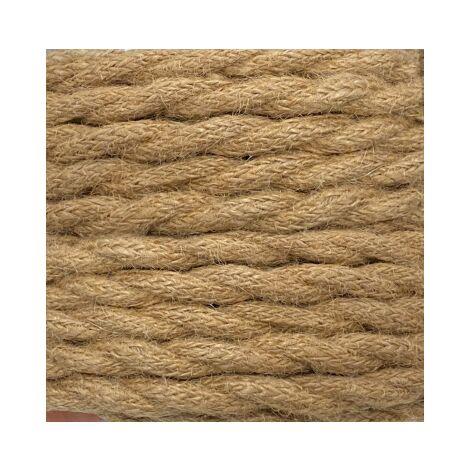 Bobina 25m. cable textil decorativo trenzado cuerda 2x0,75mm.(F-Bright 0901241)