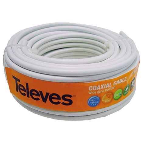 """main image of """"Cable antena Televes 435501 rollo 20 metros"""""""