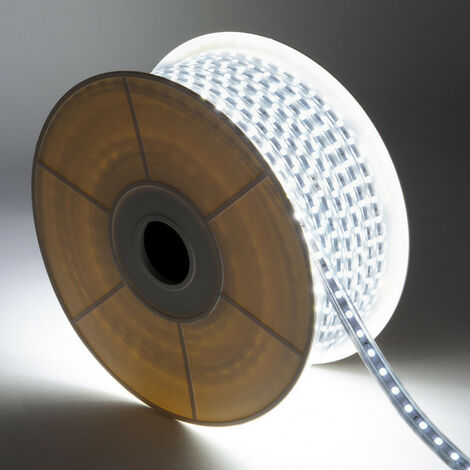 Bobina de Tira LED 220V AC 120 LED/m Blanco Frío IP65 Corte cada 50 cm Blanco 6000K - 6500K - Blanco 6000K - 6500K