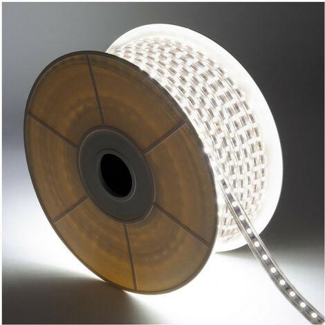 Bobina de Tira LED Regulable 220V AC 60 LED/m 50m Blanco Neutro IP65 Corte cada 100cm