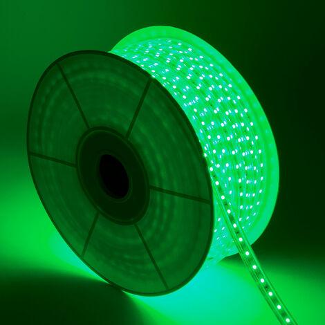 Bobina de Tira LED Regulable 220V AC 60 LED/m 50m Verde IP65 Corte cada 100cm