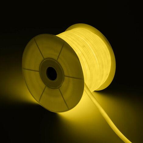 Bobina Neón LED Flexible Circular 360 120LED/m Amarillo 50 Metros Amarillo