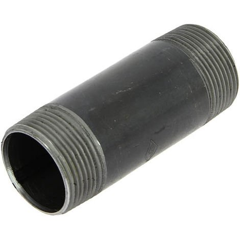 """Bobine acier noir longueur 100mm filetage conique Mâle 1""""1/4"""