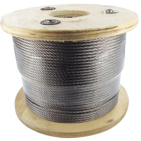 Bobine Câble inox 4 mm, Longueur 200m