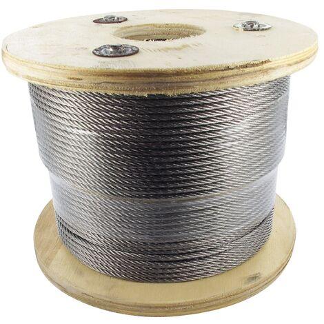 Bobine Câble inox 4 mm, Longueur 500m