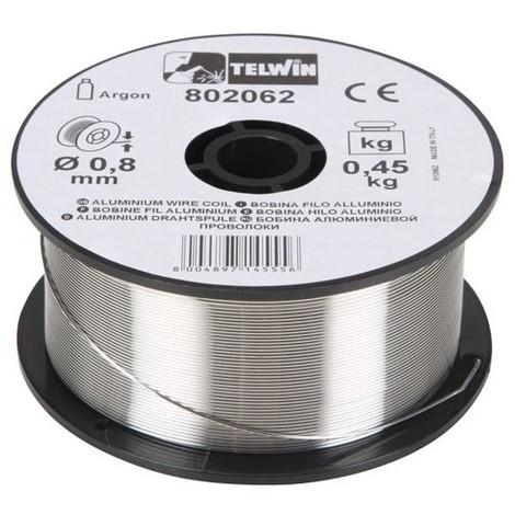 Bobine de fil d'aluminium de soudage Telwin, 0,8 et 1 mm de diamètre à partir de 0,45 kg.