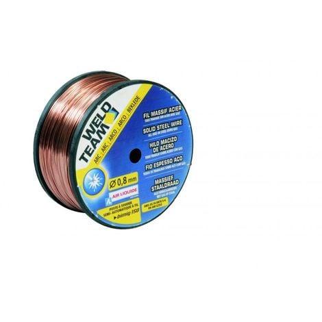 Bobine de fil massif acier D0.6mm 0,7 kg - WELDTEAM