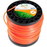 Bobine de fil professionnel pour débroussailleuse Carré 3mm x 117 mètres