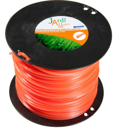 Bobine de fil professionnel pour débroussailleuse carré 3mmx230mètres