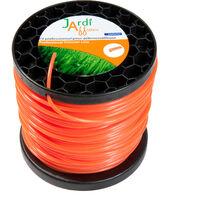 Bobine de fil professionnel pour débroussailleuse Rond 3mm x 128 mètres