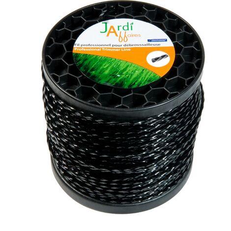 Bobine de fil professionnel Torsade pour débroussailleuse 2,4mm x 247 mètres