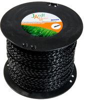 Bobine de fil professionnel Torsade pour débroussailleuse 4mm x 176 mètres
