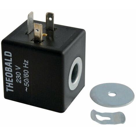 Bobine d'electrovanne gaz avec clips EV pour bloc TK25, FRISQUET, Ref. F3AA40159