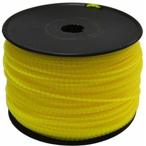 Bobine fil débroussailleuse et multifonction 3,5mm x 175M torsadé Ruris 6-632 - Jaune