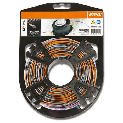 Bobine fil débroussailleuse Stihl carbone CF3 Pro 2.4 mm