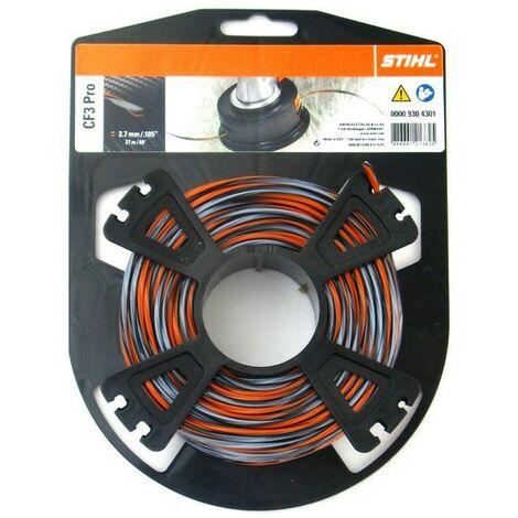 Bobine fil débroussailleuse Stihl carbone CF3 Pro 2.7 mm