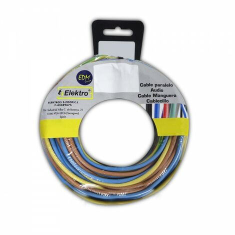 Bobine fil électrique 2,5mm 3 câbles (bleu, marron, vert et jaune) 10mts de chaque couleur.30mts