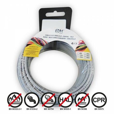 Bobine fil électrique 2,5mm câble gris 50mts sans halogène