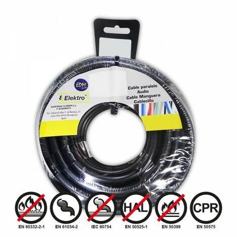 Bobine fil électrique 2,5mm câble noir 50mts sans halogène