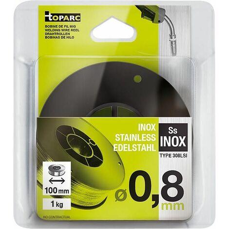 Bobine fil massif inox D0,8 mm, Bobine -D100 mm