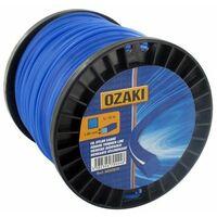 Bobine fil nylon carré OZAKI 130 m diamètre 2,00 mm